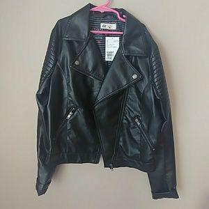 "H&M ""leather"" jacket nwt"